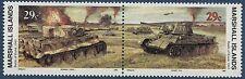 Marshall Islands 1993 World War 2 WW II Scott 336-7 Battle of Kursk Tank W59 NH