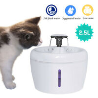 2.5L Automatic Pet Cat Dog Water Fountain/Water Filters Drinking Dispenser Bowl