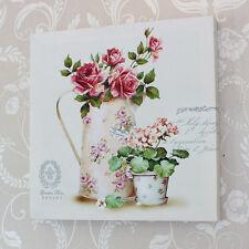 Wall Art Rosa Jarra De Impresión Floral Lona Imagen Shabby Vintage Chic Hogar Regalo