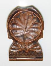 Antique Treen Carved Wood Pocket Watch Stand Holder Case German Black Forest