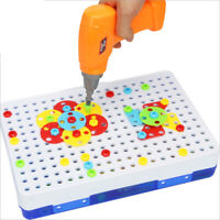 151Pcs Kid Drill Puzzle Toys DIY Screw Group Toys Children Tool Kit Jigsaw To JC
