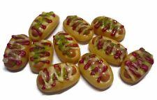 10 Bun with Sausage and Cream Sauce Dollhouse Miniatures  Bakery Food  Deco
