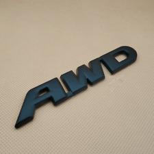 Metal Matte Big Black Awd Letter Auto Badge Car Rear Trunk Emblem Sticker Decal Fits 2012 Honda Civic