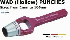 WAD PUNCHES 2mm to 100mm Hollow hole punch for holes in soft materials