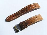 20mm Breitling Band 722P 20/18 Croco braun brown Strap mit Dornschliesse 076-20