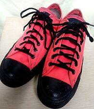 Outrageous CONVERSE All Star Orange/Black Canvas M Sz 9.5 W Sz 11.5 Low Top Shoe