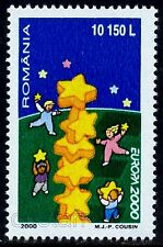 2000 Children playing,Building Star Tower,European Union,EUROPA,Romania,5487,MNH
