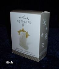2014 Hallmark BABY'S FIRST CHRISTMAS Porcelain Bear in Stocking Ornament NEW