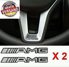 2x Mercedes AMG für Lenkrad Cockpit Emblem Logo Aufkleber CLA C S E SL CLS CLS