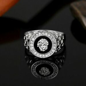 Herren Silberring   Löwe   Medusa   Ring Silber   Damen   Herrenring