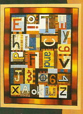 Alphabet & Numbers Soup - fun applique & pieced wall quilt PATTERN - BJ Designs