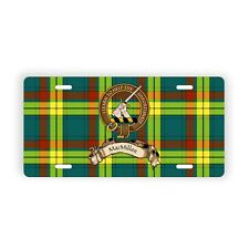 MacMillan Scottish Clan Novelty Auto Plate Tag Family Name License Plate