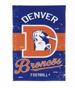 Denver Broncos Vintage Linen Garden flag