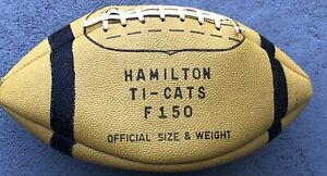 1961 Team Hamilton Tigers Cats Signed Football Grey Cup Canadian Champs Winipeg