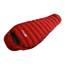 Mount 3 Season Duck Down Sleeping Bag 800g Red Camping Backpacking Travel