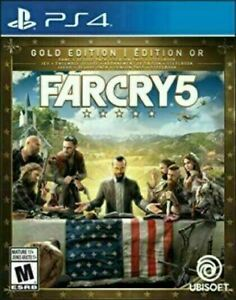 Far Cry 5 - Gold Edition Steelbook + Game [PS4] New and Factory Sealed!!