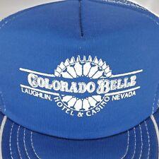 Vtg. Blue Mesh Trucker Baseball Cap Colorado Belle Hotel and Casino Laughlin NV
