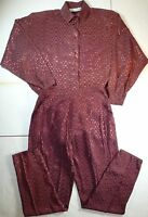*NWT* O.B. MOON WOMENS LADIES COPPER 2 PIECE BLOUSE & TROUSERS SiZE MEDIUM J90