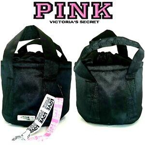 Victoria's Secret PINK Mini Bucket Bag Black Small Crossbody Bnip ²Hair Ties $29
