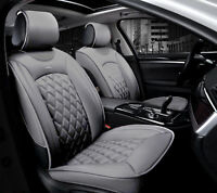 Deluxe Premium Grey Leather Look Seat Covers for Land Range Rover
