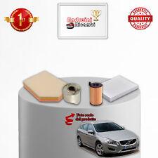 KIT TAGLIANDO FILTRI VOLVO V60 1.6 D2 84KW 114CV DAL 2011 ->