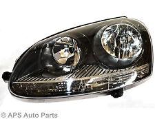 VW Golf GTI V Head Light Lamp LEFT Side Passenger Nearside Black OE Standard