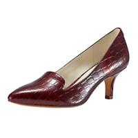 JENN ARDOR Women'sLow Kitten Heel Pumps Pointed Toe Slip On Dress Party Office