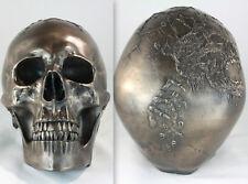 Skull Artwork Hand scuplted Bronze life size ornament satanic occult metal goth