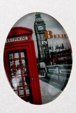 2 Vidrio Cabujón de escena de Londres 30x40mm, Colgante, fabricación de joyas,' 237 B' !