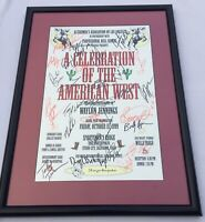 1999 WAYLON JENNINGS & PBR Bull Riders Assn POSTER~26+ AUTOGRAPHS incl. Waylon's