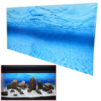 Blue Sea Ocean Aquarium Background Poster Picture Fish Tank Wall Decor njk