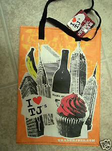 New York Trader Joe's Tote Bag Brooklyn Bridge Wine Empire State Building