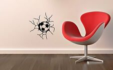 Wall Stickers Vinyl Decal Spoof Ball Wall Crack Sports ig1430