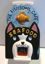 THE FISHBOWL CAFE SEAFOOD CAT DINER Salt and Pepper Goldfish Clay Art 1995 NOS