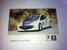 CP POSTCARD CARTOLINA PEUGEOT 207 ROSSETTI WRC RALLY RALLYE 2008