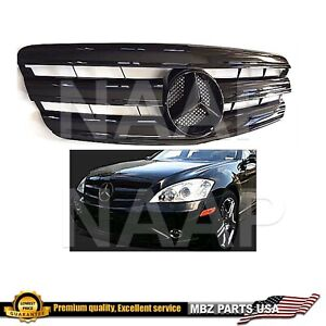 S63 AMG Grille S-Class all black Star Emblem S550 S350 W221 2007 2008 2009 S600