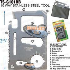 Wallet Multi Tools Hunting Survival Camping Pocket Saw Credit-Card Knife Compass