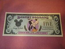 DISNEY DOLLARS 1990 UNCIRCULATED  $5 A00047665A