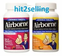 Airborne 116 Chewable Tablets Berry, Citrus Immune Support Vitamin C Minerals