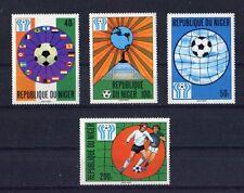 s5413) NIGER 1978 MNH** W.C. Football - Campionati del Mondo Calcio 4v.