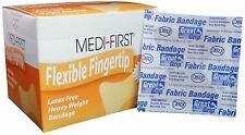 (360) MEDI-FIRST Fingertip Adhesive Bandages Heavyweight Flexible Fabric MS28552