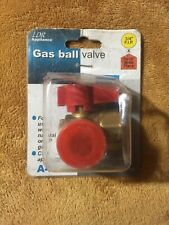 LDR 509 1750 Brass Gas Angle Ball Valve, Flare, Heavy Duty, 3/4-Inch FIP X 15/16