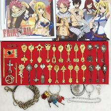 Anime Fairy Tail Lucy Keys Pendant Necklace Cosplay Keychain New In Box