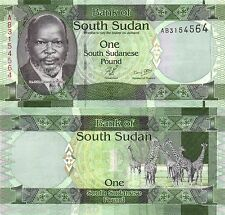 SOUTH SUDAN 1 POUND UNC BEAUTIFUL NOTE  # 912