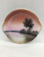 Vintage Morimura Noritake Hand Painted Small  Porcelain Plate Green Wreath M