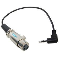 HQRP Cable 3.5mm a XLR hembra 3-pin para Rode NTG2 micrófono condensador