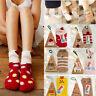 Adults Kids Lovely Animal Winter Fluffy Warm Bed Sleep Socks Christmas Xmas Gift