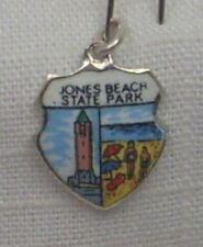 Vintage REU Silver Plated/Enamel Jones Beach, New York - Water Tower Charm New