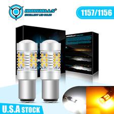 1157 1156 Led Whiteamber Drl Brake Tail Reverse Turn Signal Parking Light Bulbs