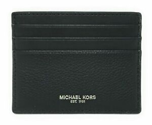 New Michael Kors Cooper Tall card card case Leather Black